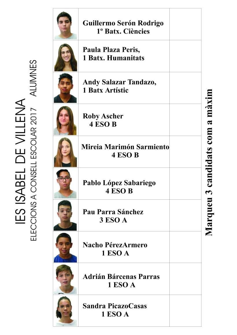 papeleta alumnos 2017
