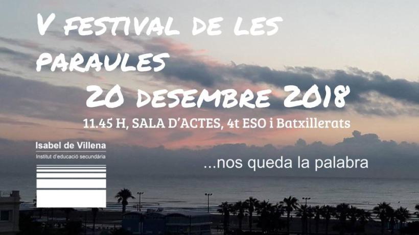 V festival de les paraules 20 desembre 2018